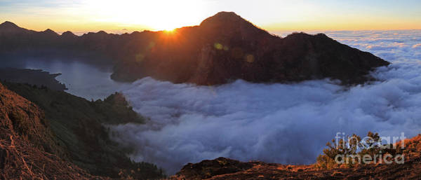 Photograph - Rinjani Sunset Panorama by Warren Photographic