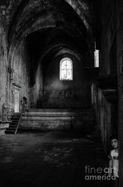 Photograph - Rioseco Abandoned Abbey Nave Bw by RicardMN Photography