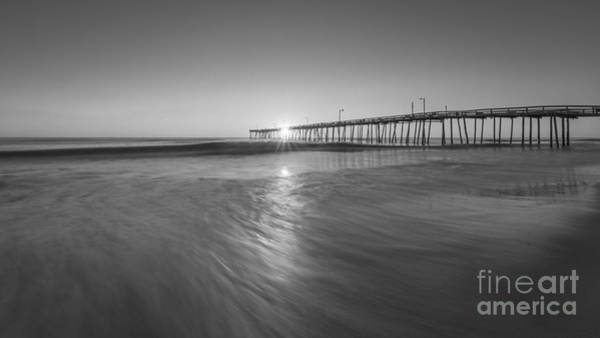 Piling Photograph - Rise And Shine At Nags Head Pier by Michael Ver Sprill