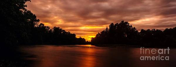 Photograph - River Sunset by Michael Cross