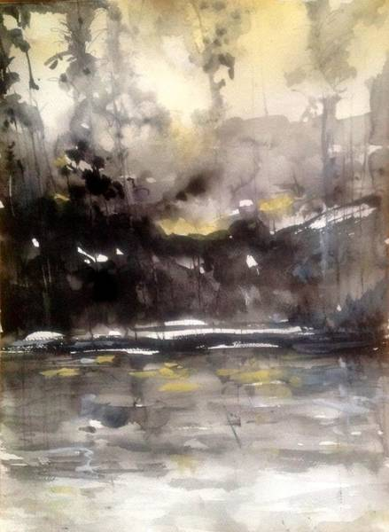 Rivers Of Light Series  Art Print