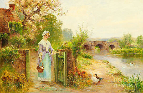 Painting - Riverside by Celestial Images
