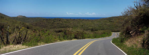 Salt Pond Photograph - Road Passing Through A Landscape, U.s by Panoramic Images