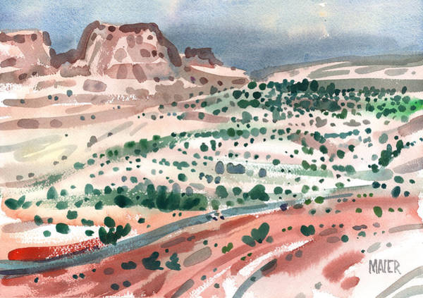 Escalante Wall Art - Painting - Road To Escalante by Donald Maier