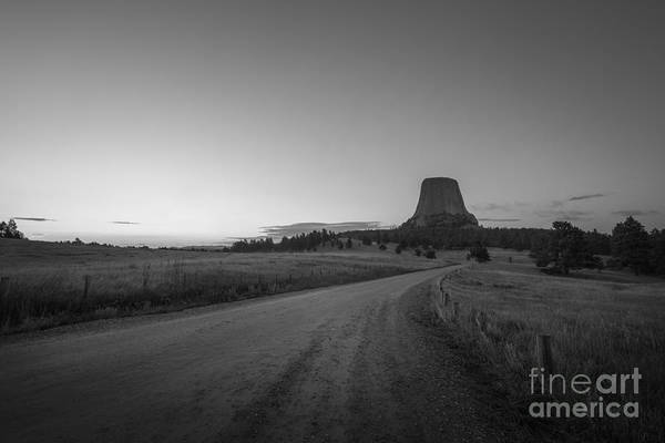 Close Encounters Wall Art - Photograph - Road To The Devils Tower  by Michael Ver Sprill