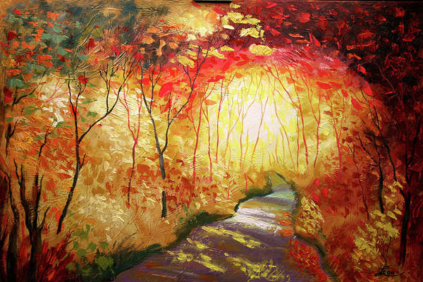 Wall Art - Painting - Road To The Sun by Leon Zernitsky