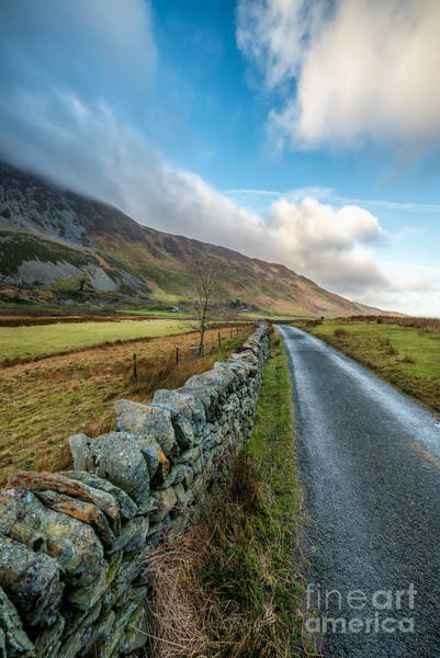 Roman Wall Photograph - Road To Winter by Adrian Evans