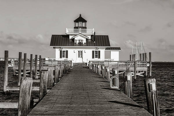 Roanoke Marshes Light Wall Art - Photograph - Roanoke Marshes Lighthouse by Library Of Congress