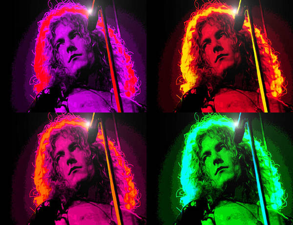 Wall Art - Digital Art - Robert Plant by Martin James