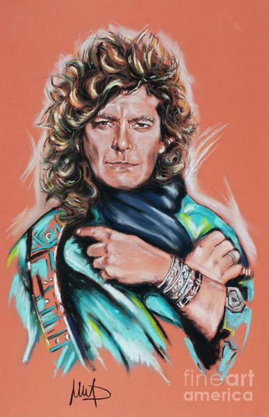 Wall Art - Painting - Robert Plant by Melanie D