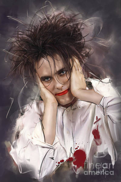 Wall Art - Painting - Robert Smith - The Cure by Melanie D