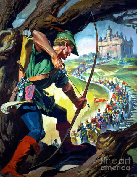 Archery Wall Art - Painting - Robin Hood by James Edwin McConnell