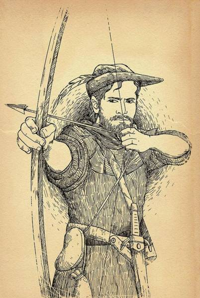 Drawing - Robin Hood The Legend by Reynold Jay