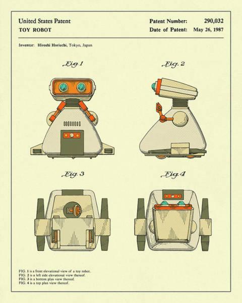 Robot Wall Art - Digital Art - Robot 1987 by Jazzberry Blue