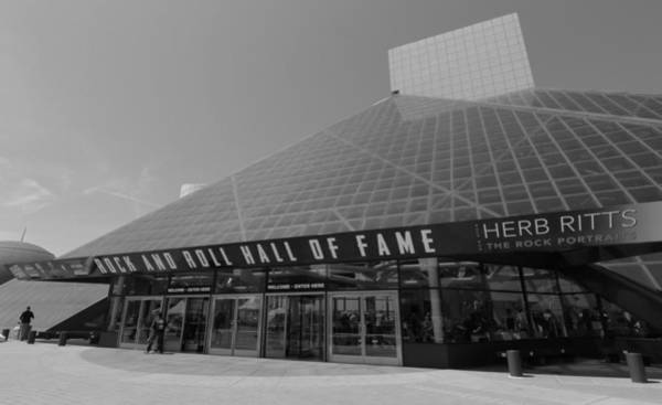 Photograph - Rock And Roll Hall Of Fame Black And White by Dan Sproul