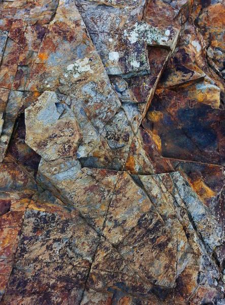 Digital Art - Rock Geometry by Julian Perry