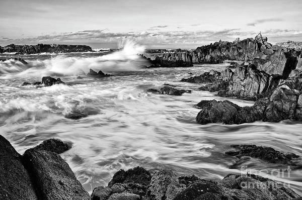 Wall Art - Photograph - Rocky Asilomar Beach In Monterey Bay At Sunset. by Jamie Pham