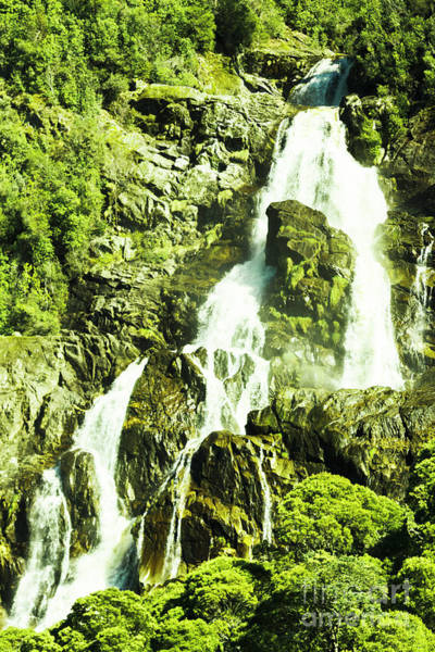 Rain Forest Photograph - Rocky Mountain Waterfall by Jorgo Photography - Wall Art Gallery