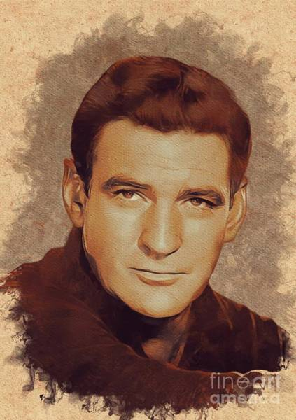 Machinery Painting - Rod Taylor, Movie Legend by Mary Bassett