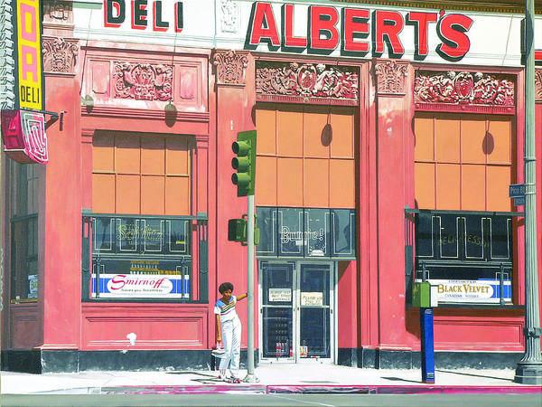 Deli Wall Art - Painting - Rollin' Down Pico by Michael Ward