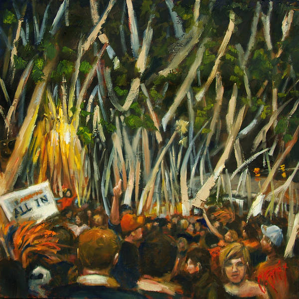 Collegiate Wall Art - Painting - Rolling Toomers by Carole Foret