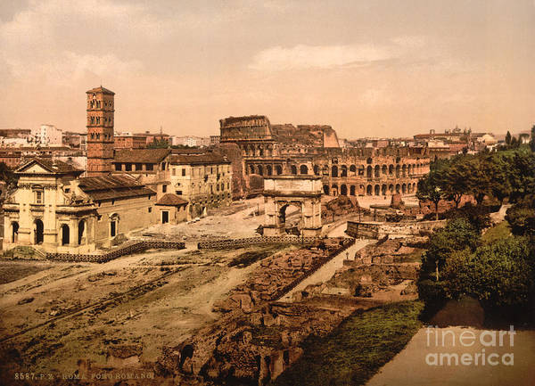 Photograph - Roman Forum, 1890s by Science Source