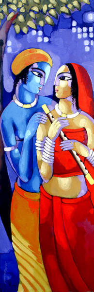 Painting - Romantic Couple by Sekhar Roy