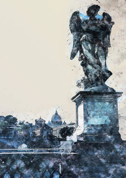 Painting - Rome And The Vatican City - 06 by Andrea Mazzocchetti