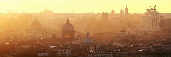 Photograph - Rome Mountain Top View Sunrise by Songquan Deng