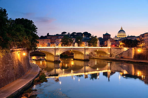 Photograph - Rome River Tiber by Songquan Deng