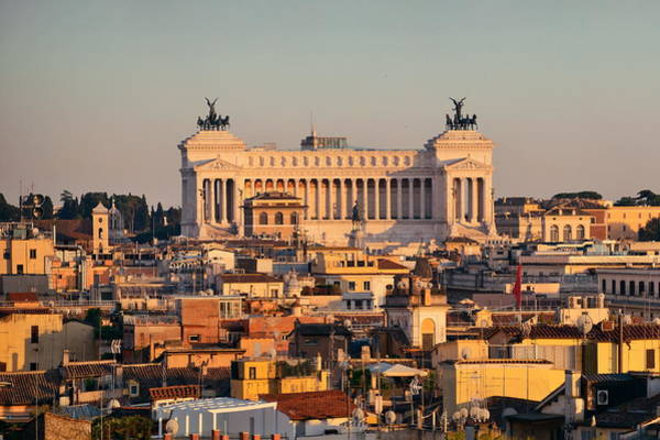 Photograph - Rome Rooftop View by Songquan Deng