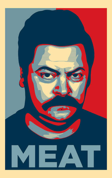 Wall Art - Digital Art - Ron Swanson by Zapista Zapista