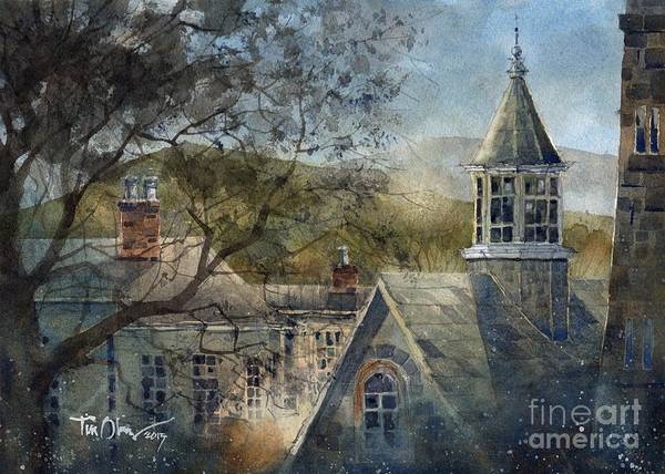 Inn Wall Art - Painting - Rooftops Of Old Edwards by Tim Oliver