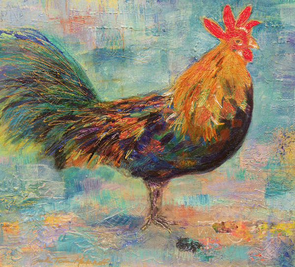 Mixed Media - Regal Rooster by Paper Jewels By Julia Malakoff
