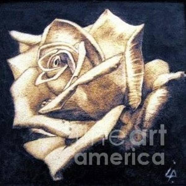 Pirografia Wall Art - Pyrography - Rose by Ilaria Andreucci