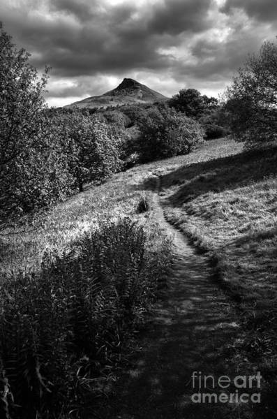 Mono Photograph - Roseberry Topping by Smart Aviation