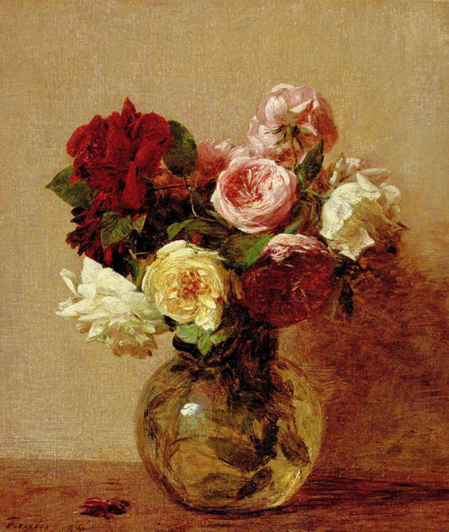 Perennial Painting - Roses by Henri Fantin-Latour