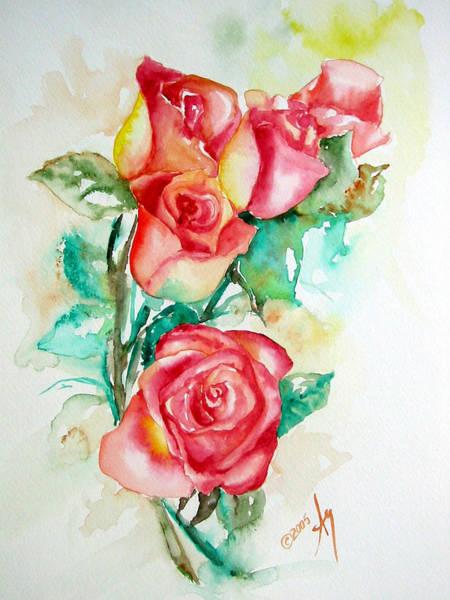Wall Art - Painting - Roses by Leyla Munteanu
