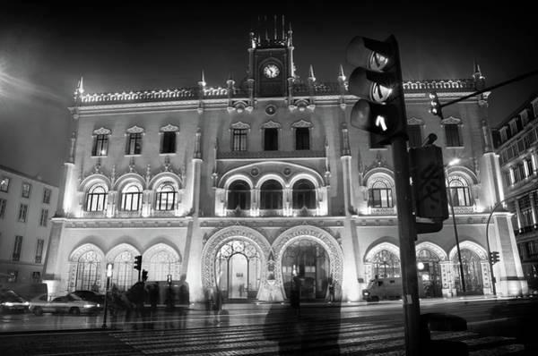 Gothic Arch Photograph - Rossio Train Station by Carlos Caetano