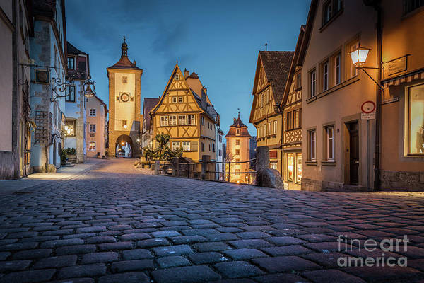Wall Art - Photograph - Rothenburg Ob Der Tauber Twilight View by JR Photography