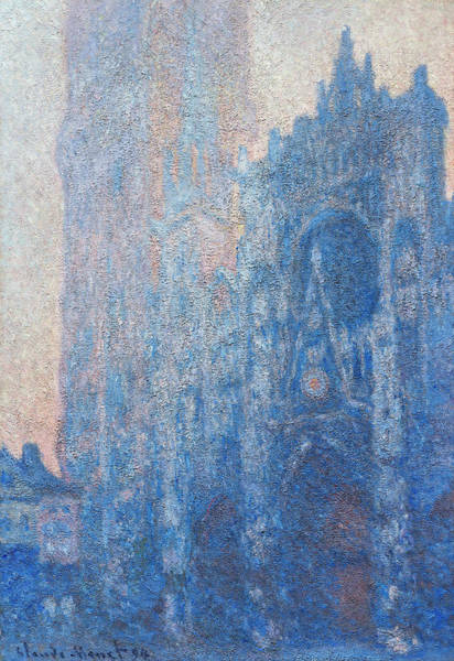 Facade Painting - Rouen Cathedral Facade And Tour D'albane, Morning Effect by Claude Monet