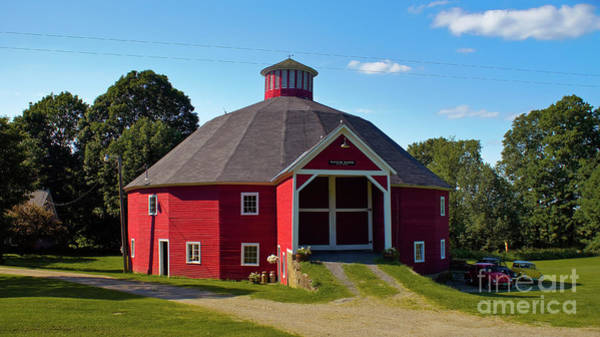 Photograph - Round Barn by Scenic Vermont Photography