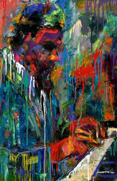 Wall Art - Painting - Round Midnight by Debra Hurd