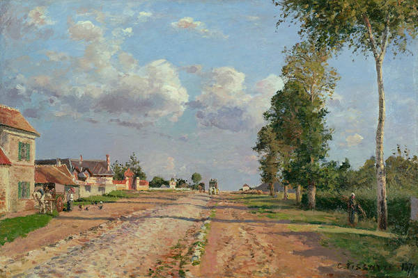 Camille Wall Art - Painting - Route De Versailles Rocquencourt by Camille Pissarro
