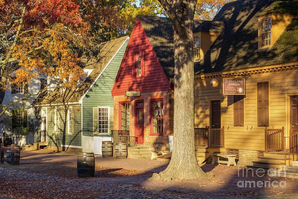 Millinery Photograph - Row Houses Duke Of Gloucester Colonial Williamsburg by Karen Jorstad