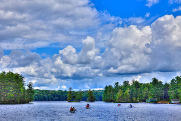 Photograph - Rowing On White Lake by David Patterson