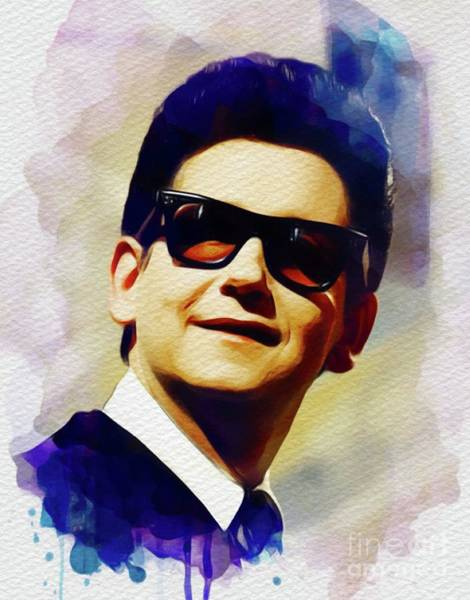 Wall Art - Painting - Roy Orbison, Music Legend by John Springfield