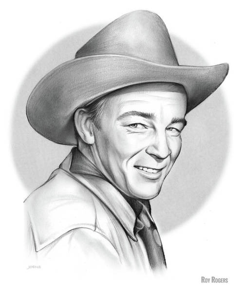 Professional Drawing - Roy Rogers by Greg Joens