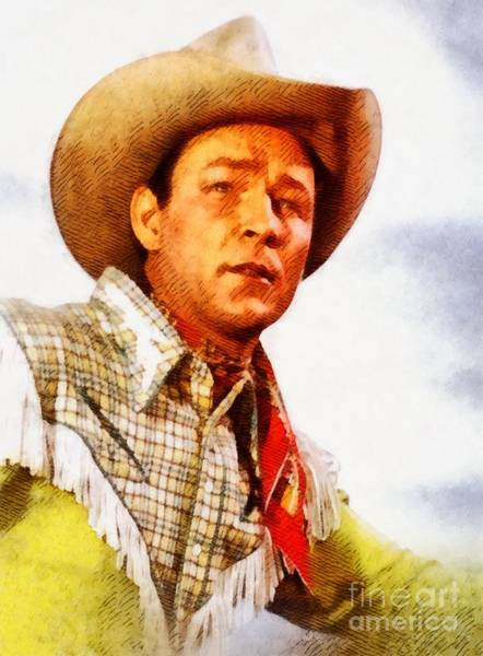 Screen Painting - Roy Rogers, Vintage Western Legend by John Springfield