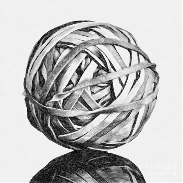 Office Digital Art - Rubber Band Ball by Patrick M Lynch